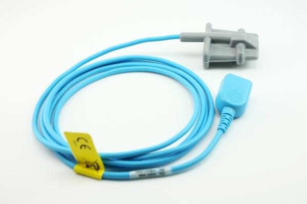 Reusable silicone finger SpO2 sensor